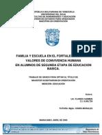 Familia y Escuela en El Fortalecimiento De