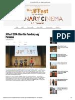 JiFFest 2014_ Film-film Pendek Yang Personal
