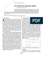 Researchpaper Design of an Ultrasonic Distance Meter