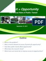 Transit = Opportunity presentation