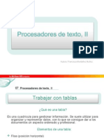 Procesadores de Texto II