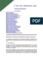 Proyecto de Ley Procesal Del Trabajo