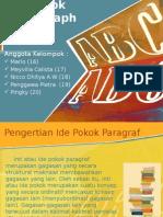 Ide Pokok Paragaraph