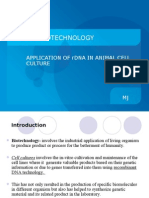 Application of rDNA in animal cell culture [Animal Biotech]