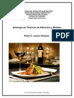 Antogia de Terminos de Alimentos y Bebidas