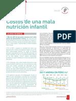 Costos de la mala nutrición infantil
