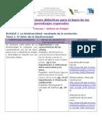 Cuadro de Opciones Didácticas Biología