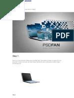 Design a Professional Laptop Advert