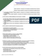 Direito Constitucional - Controle de Constitucionalidade - Questões