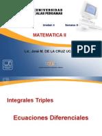 Semana8-Integrales Triples_Ecuaciones Diferenciales