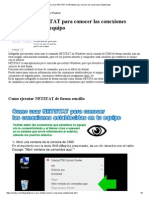 Como Usar NETSTAT en Windows Para Conocer Las Conexiones Establecidas