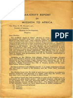 Report of Mission to Africa