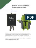 Aprende Android en 20 Conceptos
