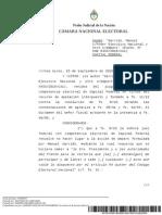 Sentencia Cámara Violación de Veda Electoral