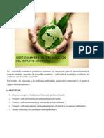 Gestión Ambiental y Evaluación Del Impacto Ambiental