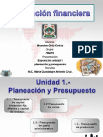 Exposición Planeacion Financiera Unidad 1