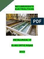 RECUBRIMIENTO ELECTROLITICOS