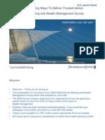PWC Global Banking Survey