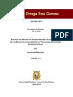 REVISIÓN DEL MÉTODO DEL INGRESO DEL PIB Y PLANTEAMIENTO DE UNA PROPUESTA PARA EXPRESAR LOS PRINCIPALES INDICADORES MACROECONÓMICOS