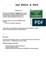 contrasts and contradictions cheat sheet