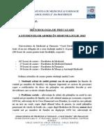 Metodologia de Precazare a Studentilor Admisi in Iulie 2015-08.07.2015-Site
