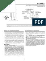Linear WT00Z-1 - Installation Manual