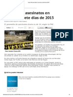 Suman 102 Asesinatos en Primeros Siete Días de 2015