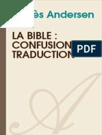 AGNES ANDERSEN-La Bible Confusion de Traduction