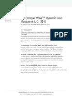 The Forrester Wave - Dynamic Case Management Q1 2014
