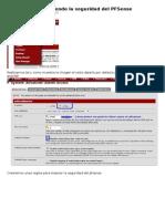 Configuracion PFSENSE