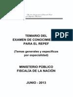 Temario Evaluacion de Conocimientos Peritos Fiscales