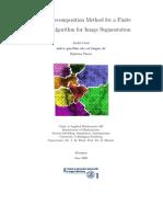 Domain Decomposition Method for a Finite Element Algorithm for Image Segmentation