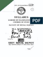 M.a. Economics(Annual Scheme)2015