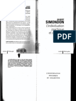 Gilbert Simondon L'Individuation Psychique Et Co