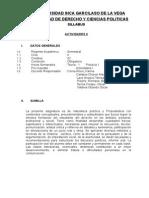 silabus Actividades II