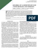 paiper de equilibrio liquido vapor 2,3 dimethylbutane
