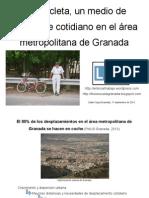 La bicicleta, un medio de transporte cotidiano en el área metropolitana de Granada