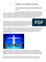 Treating Diabetes Naturally - Cure Diabetes In Weeks