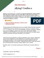 Perguntas Sobre o Bullying