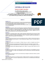 LEY GENERAL de SALUD Ministerio de SaludCosta Rica _Libro I
