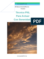 Tecnica PNL Para Actuar Con Serenidad - Aprender PNL