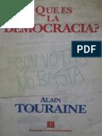 Que Es La Democracia - Alain Touraine