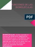 Funciones de Las Biomoléculas