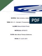 MV– U1 – Actividad 2. Procesamiento de Un Texto (1)