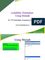 Using Minitab for RE