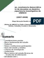 Sector de Educación de UNESCO/Quito IV Jornada de Cultura de Paz y Convivencia. Montevideo, Uruguay