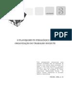 o Planejamento Pedagógico e a Organização Do Trabalho Docente