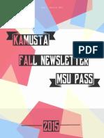 PASS Fall Newsletter 2015