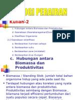 c. Hubungan Antara Biomassa Dan Produktivitas d.