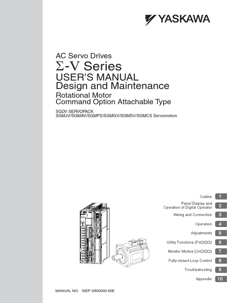 manual yaskawa servo drive pdf